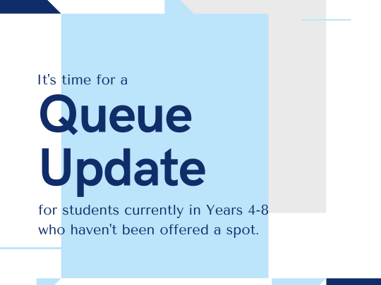 It's time for a queue change!