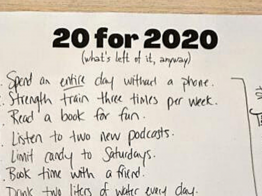 20 for 2020 (what's left of it, anyway)